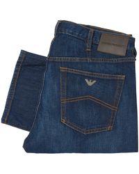Emporio Armani J21 Jeans Stretch Cotton Jeans - Blue