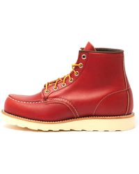Red Wing 6 Inch Moc Toe Boot - Red