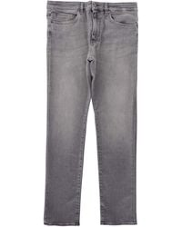 BOSS by Hugo Boss Slim-fit Cashmere-touch Jeans - Grey