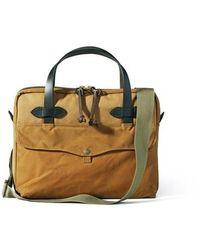 Filson Tablet Briefcase - Tan - Brown