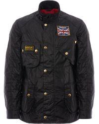 Barbour Union Jack Wax Jacket - Black