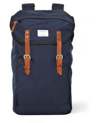 Sandqvist   Hans Canvas Blue Backpack   Lyst
