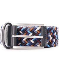 Andersons - Woven Belt - Blue Multi - Lyst