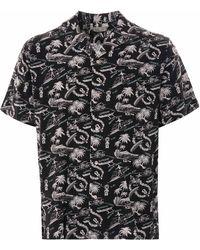 Reyn Spooner Okole Maluna Rayon Camp Shirt - Black