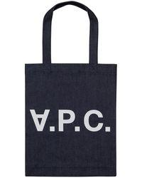 A.P.C. Laure Tote Bag - Blue