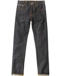 Nudie Jeans - Grim Tim Org Dry Selvage Jeans Sku111205 - Lyst