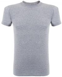Naked & Famous Naked And Famous Vintage Circular Knit Grey T-shirt