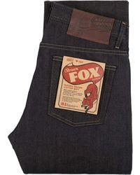 Naked & Famous Weird Guy Brown Fox Selvedge - Blue