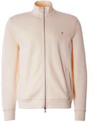 Farah Bowmont Zip Sweatshirt - Natural