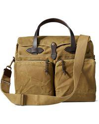 Filson 24-hour Tin Briefcase Dark Tan - Brown
