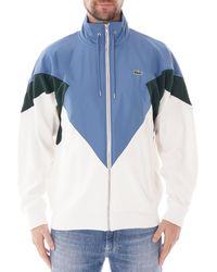 Lacoste Stand-up Neck Color Block Zip Jacket - Blue