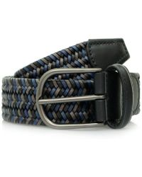 Andersons - Anderson's Woven Navy Black Braided Leather Belt A/2915 - Lyst