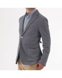 Circolo 1901 Woven Textured Jacket - Blue