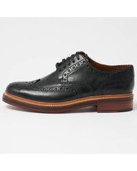 Grenson - Archie Black Brogue Shoes - Lyst