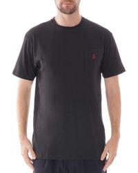 Gramicci Short Sleeve One Point T-shirt - Black