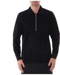 Paul Smith Long Sleeve Zip Up Sweat - Black