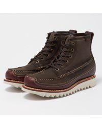 G.H. Bass & Co. - Dark Brown And Textile Quail Razor Hi Boot - Lyst