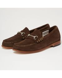 G.H.BASS - Lincoln Palm Springs Reverso Loafers - Dark Brown - Lyst