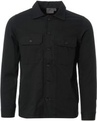Naked & Famous - Rinsed Oxford Workshirt - Black - Lyst