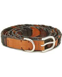 Rag & Bone Arrow Leather Belt - Brown