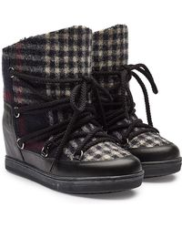 Isabel Marant - Nowles Wedge Heel Ankle Boots With Virgin Wool, Leather And Shearling Insole - Lyst