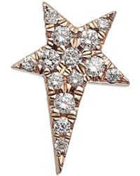 Diane Kordas - 18kt Gold Star Earring With White Diamonds - Lyst