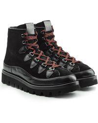 Valentino - Boots en cuir velours et cuir - Lyst
