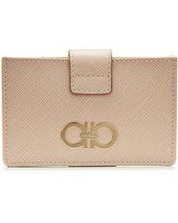 Ferragamo - Leather Card Wallet - Lyst