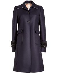 N°21 | Embellished Wool Coat With Cashmere | Lyst