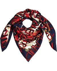 Burberry - Printed Silk Scarf - Lyst