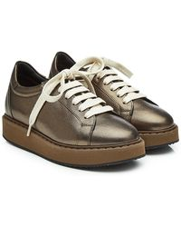 Brunello Cucinelli - Leather Sneakers With Platform - Lyst