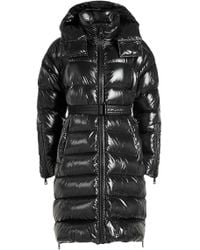Moncler - Quilted Down Coat With Hood - Lyst