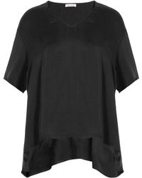 American Vintage - Draped Top With Asymmetric Hem - Lyst