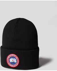 Canada Goose Mütze mit Brand-Detail - Schwarz