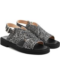 Carven | Glittered Leather Sandals | Lyst