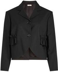 Nina Ricci - Ruffle Pocket Wool Jacket - Lyst
