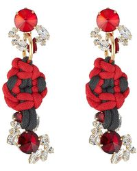 Marni - Embellished Earrings With Rope - Lyst