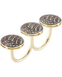 Ileana Makri - 18-karat Gold And Sapphire Knuckle Ring - Lyst