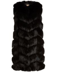 Yves Salomon - Fox Fur And Leather Vest - Lyst