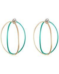 Delfina Delettrez | Big Ear-clipse Hoop Earrings In 18kt Gold | Lyst