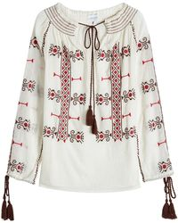 Christophe Sauvat - Embroidered Cotton Tunic - Lyst