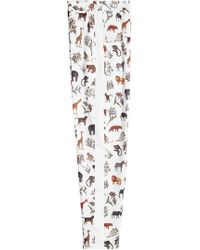 Victoria, Victoria Beckham - Printed Pyjama Pant - Lyst