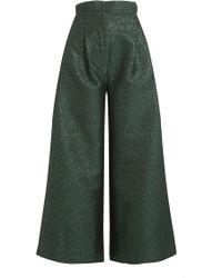 Natasha Zinko - Cropped Wide Leg Trousers - Lyst