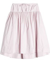 Jil Sander Navy - Cotton Skirt - Lyst