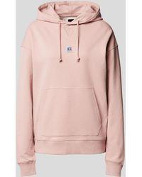 BOSS Black Hoodie mit Brand-Detail - Pink