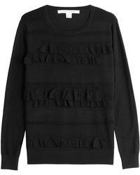 Diane von Furstenberg - Knit Pullover With Ruffles - Lyst