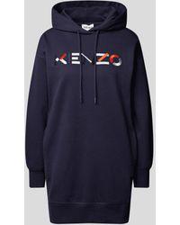 KENZO Sweatkleid mit Logo-Stickerei - Blau