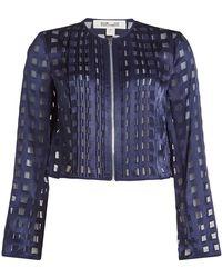 Diane von Furstenberg - Jacket With Sheer Inserts - Lyst