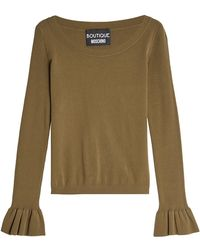 Boutique Moschino - Pullover With Statement Cuffs - Lyst