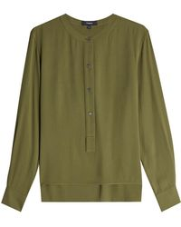 Theory - Silk Blouse - Lyst